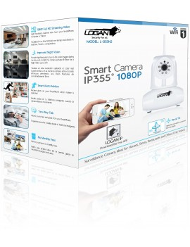 CAMARA IP LOGAN (L-I355N2) DOMO 2MPX 1080P WIFI CON CABLE ETHERNET 1MTS