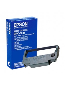 CINTA IMPRESORA EPSON PARA TM-200 ERC-38B NEGRA