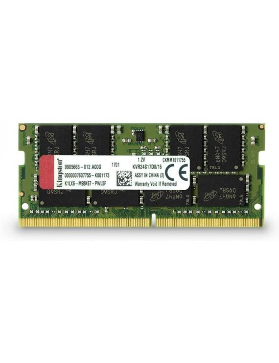 MEMORIA KINGSTON 16GB 2400MHZ 2RX8 DDR4 SO-DIMM