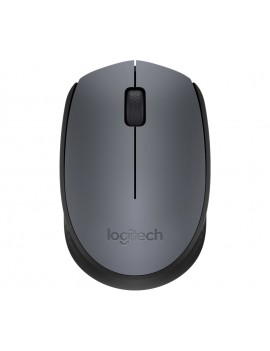 MOUSE LOGITECH (M170) OPTICO WIRELESS NEGRO CON GRIS OSCURO