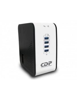 REGULADOR CDP (R2CU-AVR1008)  1000VA/400W 8 TOMAS/4 USB 120V/220V