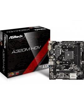 MICRO ATX ASROCK (A320M-HDV) AM4/32GB/2XDDR4/VGA/HDMI/DVI