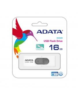 MEMORIA USB 16GB ADATA (UV220) USB 2.0 BLANCO CON GRIS
