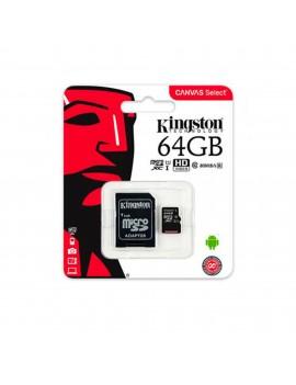 MEMORIA MICRO SD 64GB KINGSTON SDXC C10 (SDCS/64GB)