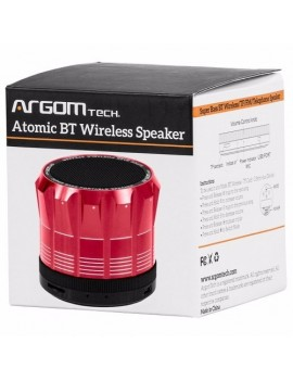 PARLANTE ARGOM (2805R) WIRELESS BLUETOOTH 3W USB ROJO